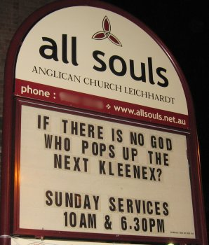 IF THERE IS NO GOD WHO POPS UP THE NEXT KLEENEX?