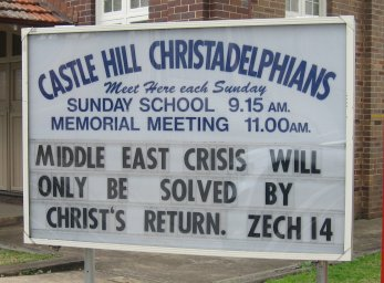 Middle East crisis will only be solved by Christ's return. Zech 14