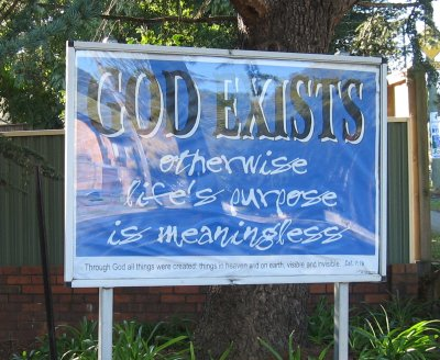 GOD EXISTS - otherwise life's purpose is meaningless