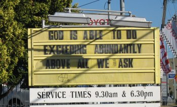 GOD IS ABLE TO DO EXCEEDING ABUNDANTLY ABOVE ALL WE ASK